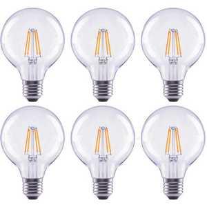 ECOSMART FG-04047 60-Watt Equivalent G25 Globe Dimmable Clear Glass Filament Vintage E26 Medium Base Cool White LED Light Bulb