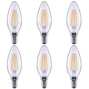 ECOSMART FG-04032 40-Watt Equivalent B11 Dimmable Clear Glass Filament Vintage E12 Candelabra Base Daylight LED Light Bulb