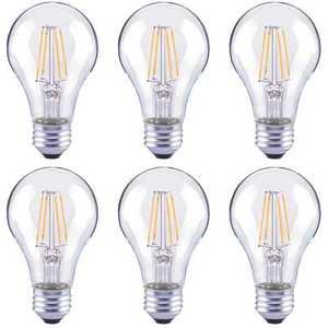 ECOSMART FG-04016 40-Watt Equivalent A19 Dimmable Clear Glass Filament Vintage E26 Medium Base Soft White LED Light Bulb