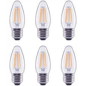 ECOSMART FG-04036 60-Watt Equivalent B11 Dimmable Clear Glass Filament Vintage E26 Medium Base Soft White LED Light Bulb