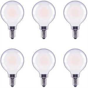 ECOSMART FG-04051 40-Watt Equivalent G16.5 Globe Dimmable Frosted Glass Filament E12 Candelabra Base Soft White LED Light Bulb
