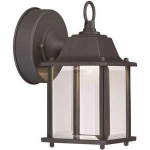 Cordelia Lighting LED7002A-05 1-Light Black Integrated LED Outdoor Wall Lantern