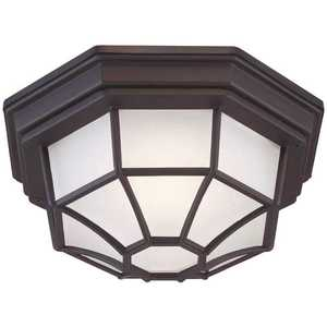 Cordelia Lighting LED7072A-05 1-Light Black Integrated LED Outdoor Flush Mount Light
