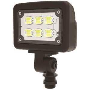 Halco FLFS12/3CCTU/KN 10339 12-Watt 120-277-Volt Knuckle Line Voltage Bronze Outdoor Integrated LED Small Landscape Flood Light, Selectable Color