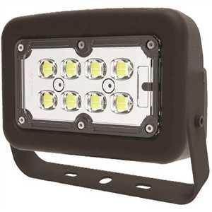 Halco FLFS30/3CCTU/YK 10342 120-Volt to 277-Volt Yoke Line Voltage Bronze Outdoor Integrated LED Medium Landscape Flood Light, Selectable