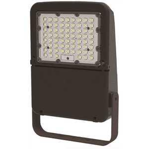 Halco FLFS100/3CCTU/YK 10348 120-Volt to 277-Volt Yoke Line Voltage Bronze Outdoor Integrated LED Large Landscape Flood Light, Selectable Color