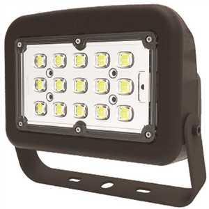 Halco FLFS50/3CCTU/YK 10344 120-Volt to 277-Volt Yoke Line Voltage Bronze Outdoor Integrated LED Medium Landscape Flood Light, Selectable