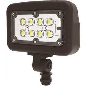 Halco FLFS30/3CCTU/KN 10341 30-Watt 120-277-Volt Knuckle Line Voltage Bronze Outdoor Integrated LED Medium Landscape Flood Light, Selectable Color