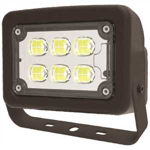 Halco FLFS12/3CCTU/YK 10340 120-Volt to 277-Volt Yoke Line Voltage Bronze Outdoor Integrated LED Small Landscape Flood Light, Selectable
