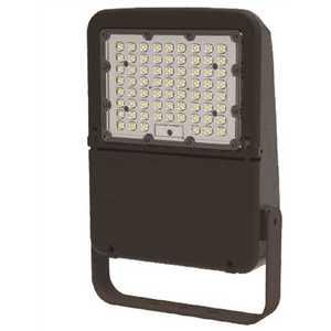 Halco FL150/U50/YK 10350 120-Volt to 277-Volt Yoke Mount Line Voltage Bronze Outdoor Integrated LED Large Landscape Flood Light, Daylight 5000K