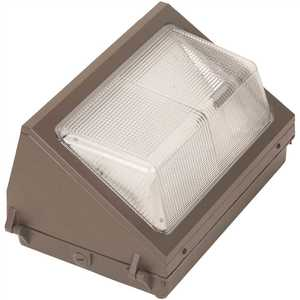 Simply Conserve L35WPT50F-PC 100-Watt MH Equivalent Integrated LED Bronze Dusk to Dawn Wall Pack Light, 5000K