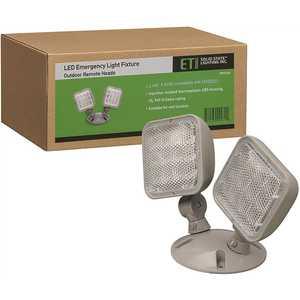 ETi 55503201 2-Light 60-Watt Equivalent Integrated LED Gray Emergency Light 6500K Daylight 2.4-Watt