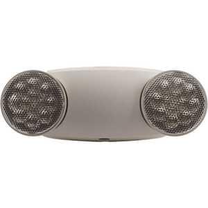 Sylvania 60764 2.4-Watt Dual Voltage Integrated LED White Twin Round Head Emergency Light, Daylight 6000K