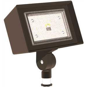 Hubbell Outdoor Lighting RFL2-25-4K Ratio 25 Watt Small Dark Bronze Outdoor Integrated LED Flood Light, 4000K