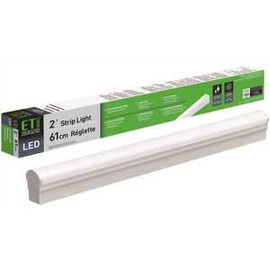 ETi 54260144 2 ft. 34-Watt Equivalent Integrated LED White Strip Light Fixture 4000K Bright White 1800 Lumens Direct Wire 120-277V
