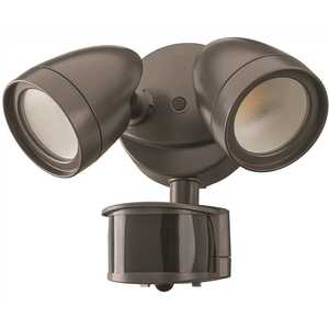 ETi 51406111 2-Head Bronze Motion Activated Outdoor Integrated LED Security Flood Light 1200 to 2400 Lumens Boost 3 CCT