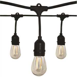 Satco Products Inc. S8020 Outdoor 24 ft. Plug-in Edison Bulb String Light