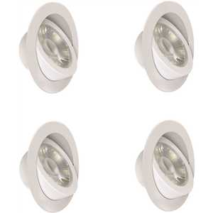 Feit Electric LEDR4XT/ADJ/6WYCA/4 4 in. Color Selectable CCT White Integrated LED Retrofit Recessed Trim