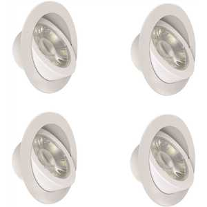Feit Electric LEDR6XT/ADJ/6WYCA/4 6 in. Color Selectable CCT White Integrated LED J-Box Adjustable Retrofit Recessed Trim