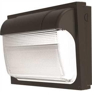 Lithonia Lighting TWX2 LED ALO 50K MVOLT DDBTXD Contractor Select TWX2 250-Watt Equivalent Integrated LED Dark Bronze Wall Pack Light, Adjustable Lumen Output 5000K