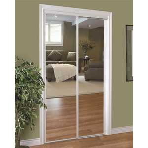 HOME DECOR INNOVATIONS 24-1410 230 SERIES FRAMED MIRROR BYPASS DOOR, WHITE, 60X80 IN