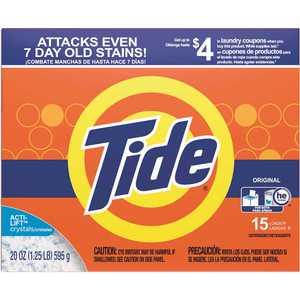 TIDE 003700027782 20 oz. Original Scent Powder Laundry Detergent (15-Loads)