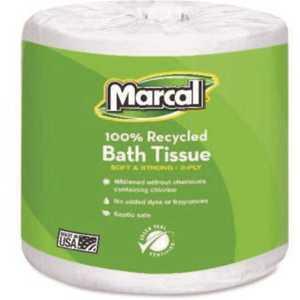 100% Premium 2-Ply Recycled Embossed Toilet Tissue