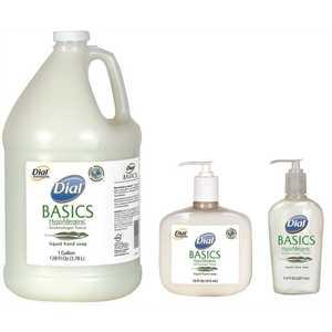 DIAL 1700006044 BASICS HYPOALLERGENIC LIQUID HAND SOAP 16 OZ PUMP BOTTLE