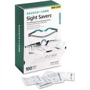 Bausch & Lomb BAL8576 Sight Savers Pre-Moistened Anti-Fog Tissues with Silicone