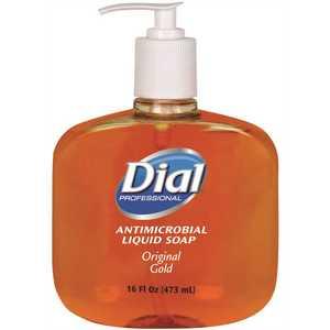 DIAL 2340080790 ANTIMICROBIAL LIQUID HAND SOAP, 16 OZ., GOLD