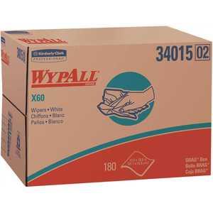 WypAll 34015 X60 Reusable Cloths in Brag Box White (180-Sheets/Box, )