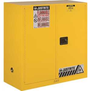 SAFETY STORAGE CABINET, 30 GALLON, 44 IN. X 43 IN. X 18 IN., MANUAL CLOSE