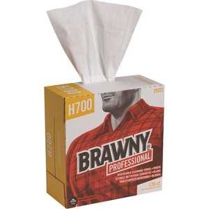 BRAWNY 29322 Professional H700 Disposable Cleaning Towel, Tall Box, White