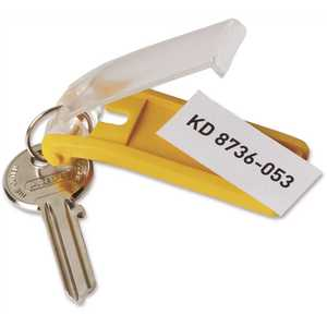 Durable DBL194900 1-1/8 in. x 2-3/4 in. Assorted Plastic Key Tags for Locking Key Cabinets