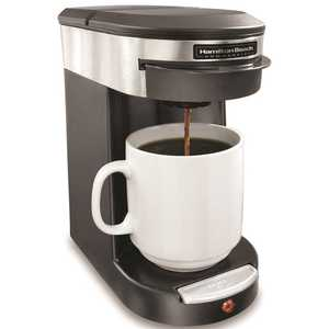 HAMILTON BEACH HDC200S Single Cup Hospitality Coffeemaker with 3-Minute Brew Time in Stainless steel/black