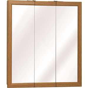 Zenith Home Corp. K24 K Series 24 in. Classic Oak Triview Medicine Cabinet