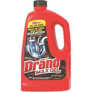 S.C. JOHNSON CONSUMER CB401099 80 oz. Drano Max Gel Clog Remover RTU Drain Cleaner