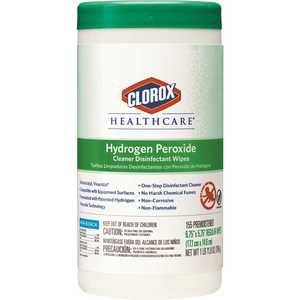 CLOROX 30825 Healthcare Hydrogen Peroxide Cleaner Disinfectant Wipes Canister