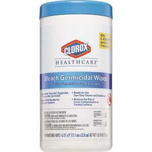CLOROX 4460035309 Healthcare Germicidal with Bleach Cleaning Wipes