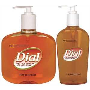 DIAL 2340084014 Gold Antimicrobial Liquid Hand Soap - 12/7.5 oz Pump