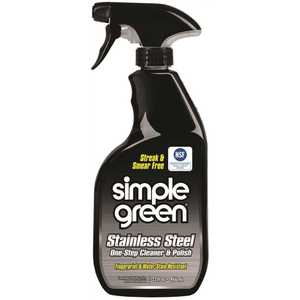 SIMPLE GREEN 3510001218300 STAINLESS STEEL CLEANER AND POLISH, 32 OZ