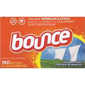 BOUNCE 003700080168 Outdoor Fresh Scent Fabric Softener Dryer Sheets