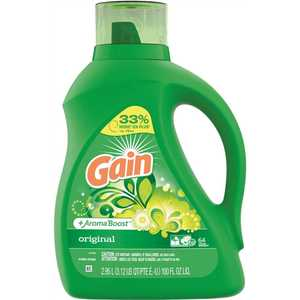 GAIN 003700012786 100 oz. Original Fresh Scent HE Liquid Laundry Detergent (64 Loads)