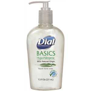 DIAL 1700006028 Basics Liquid Hand Soap (Green Seal Certified) - 12/7.5oz Pump