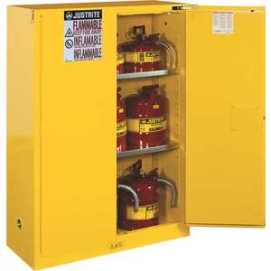 JUSTRITE MFG CO 896000 SAFETY STORAGE CABINET, 60 GALLON, 65 IN. X 34 IN. X 34 IN., MANUAL CLOSE