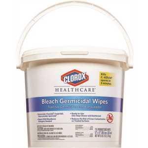 CLOROX 30358 Healthcare Bleach Germicidal Wipes Pail (2-Pails per Case)