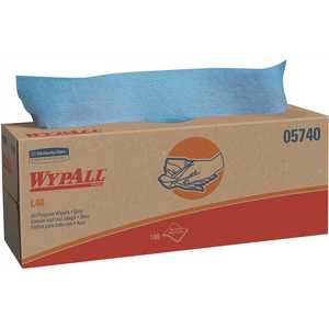 WypAll 05740 L40 Blue Disposable Cleaning and Drying Towels (9 Pop-Up Boxes/Case, 100-Sheets/Box, 900-Sheets Total)