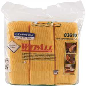 15.75 in. x 15.75 in. Gold Reusable Microfiber Cloths (, 6 Wipes/Container, )