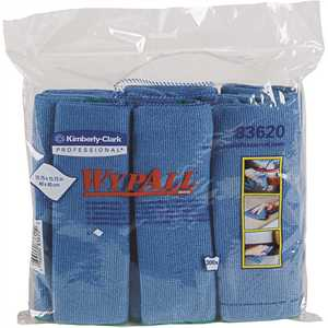 15.75 in. x 15.75 in. Blue Reusable Microfiber Cloths (, 6 Wipes/Container, )