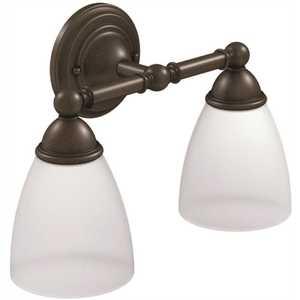 Moen YB2262ORB Brantford Double Globe Bath Light Oil Rubbed Bronze Finish